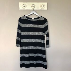 J. Crew Factory | Black & White Striped Dress